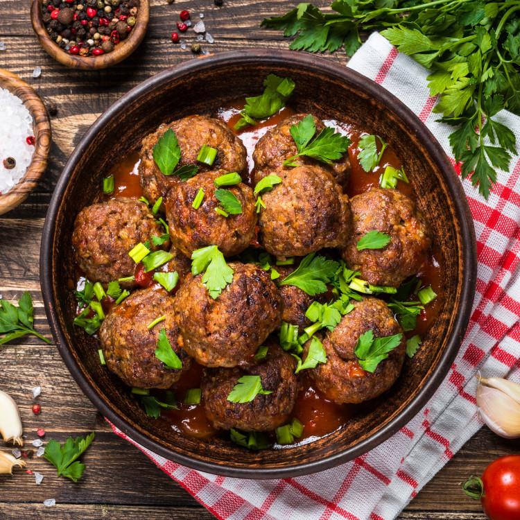 Polpettes de dinde et champignons, sauce brune, papardelles