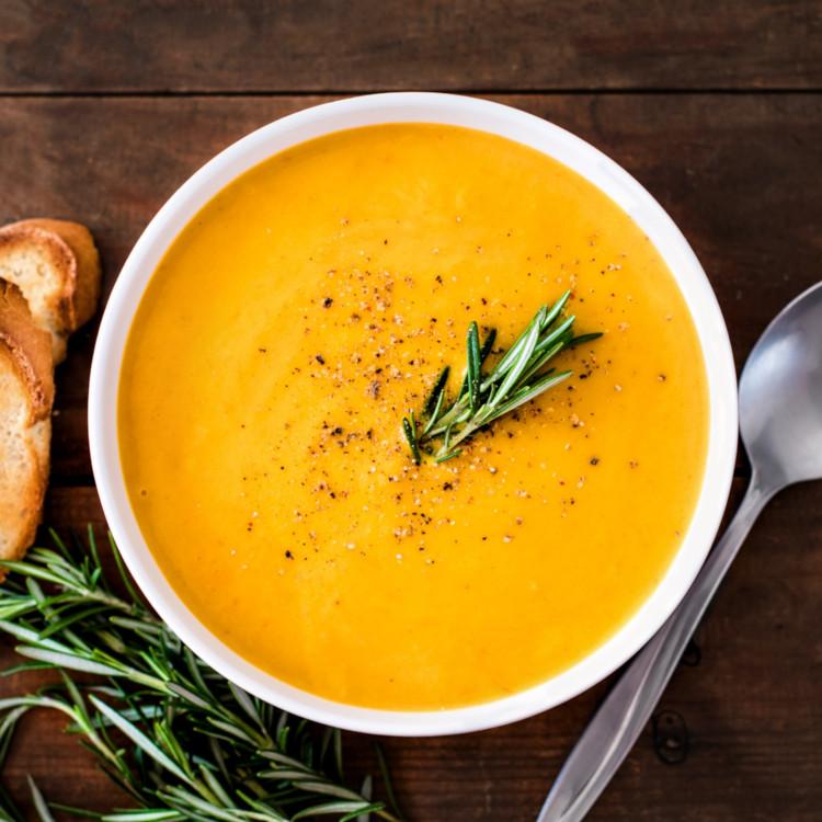 Potage de carottes aux poires