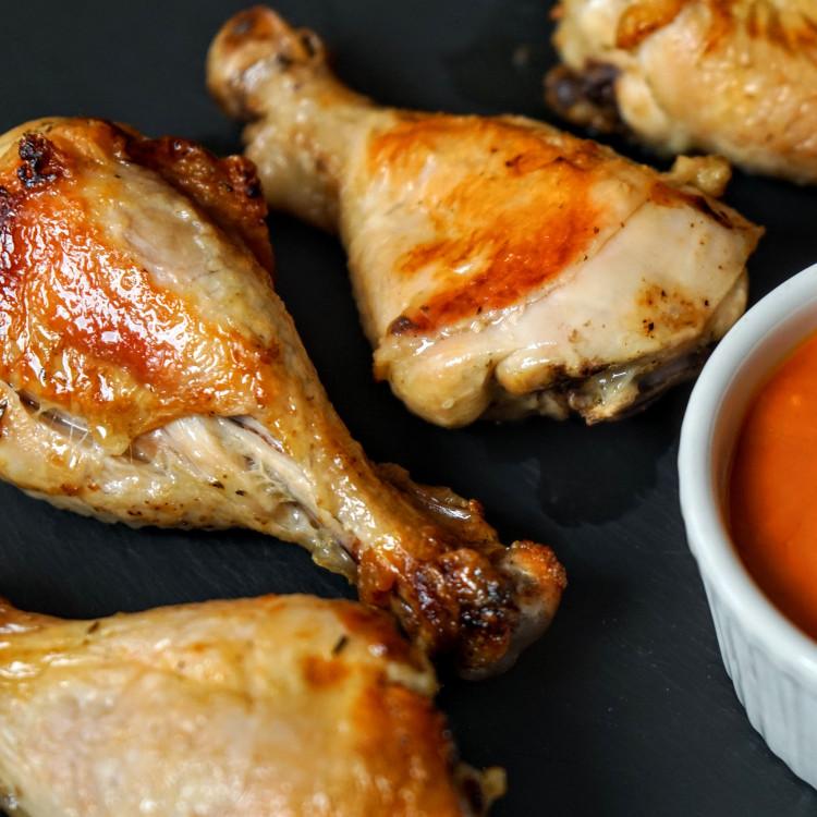 Pilons de poulet, lentilles aux tomates