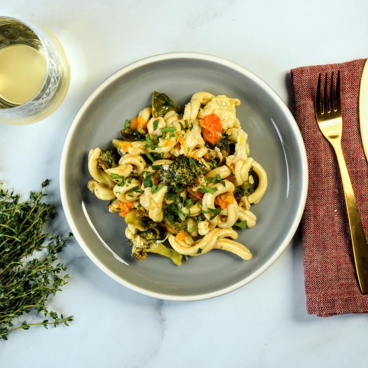 Gemellis aux légumes et bonbons d'ail