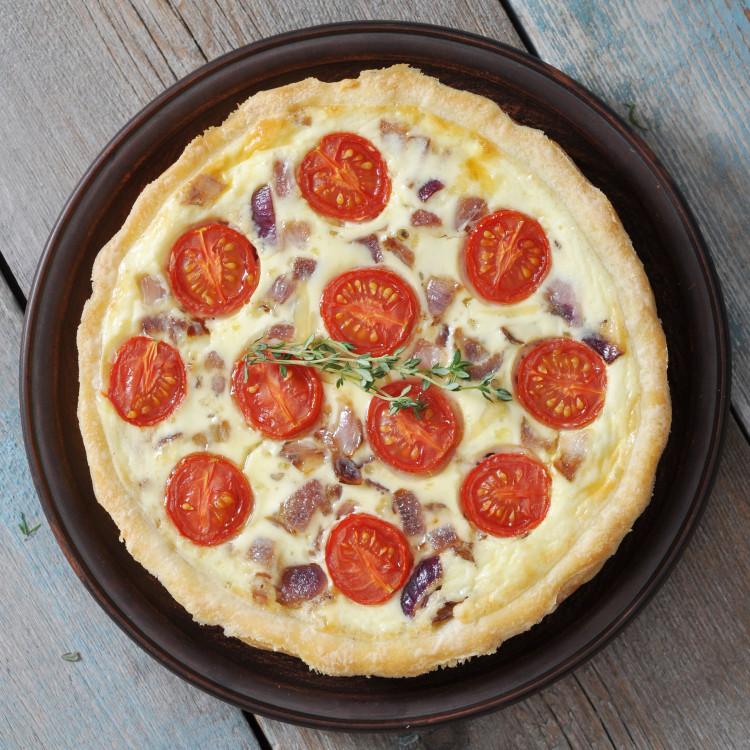 Quiche aux tomates cerises et 3 fromages