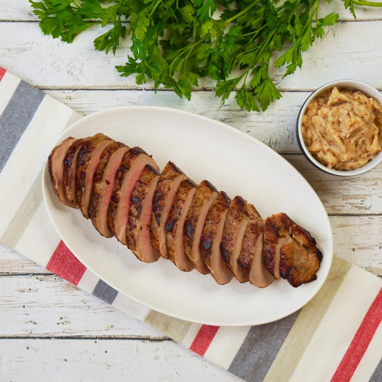 Filet de porc, sauce BBQ à la fraise